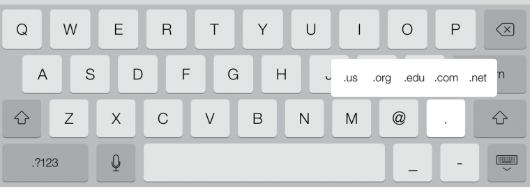 Where To Find The .com key If Using iOS 7