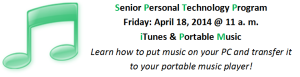 Senior Personal Tech April 18, 2014