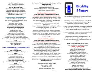 Circulating E-Readers Brochure Updated June 11, 2014 Side 1