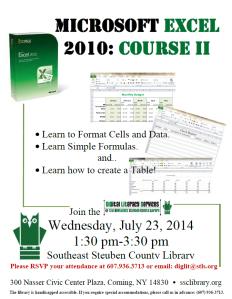 Excel II Workshop