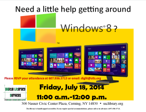 Windows 8 Workshop July 18, 2014