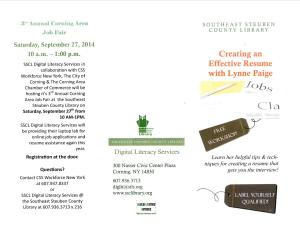 Resume Workshop & Job Fair Brochure Side A