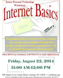 Senior Personal Technology  Internet Basics August 22, 2014
