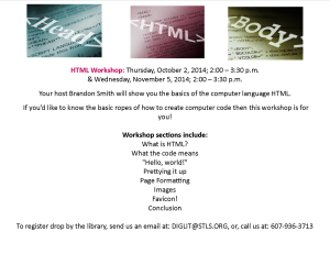 HTML Workshop Oct 1