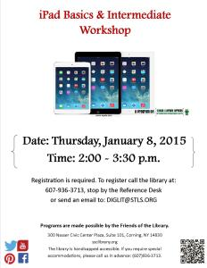 iPad Basics & Intermediate Workshop Flyer For Facebook