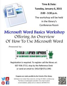 Microsoft Word Basics Workshop Flyer For Facebook