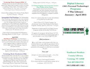 Tech Programs  Brochure Jan - April 2015 Side A