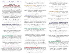Tech Programs  Brochure Jan - April 2015 Side B