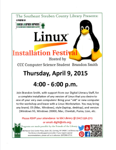 April 2015 Linux Fest Flyer