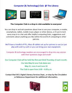 Computer Club Flyer Monthly