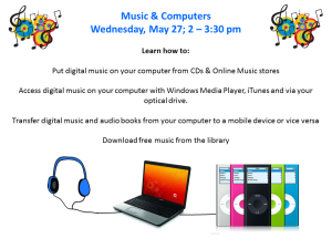 Music & Computers Program Flyer May 27, 2015