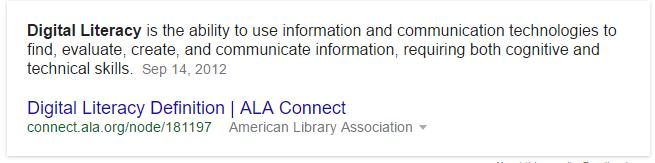 Digital Literacy Defined