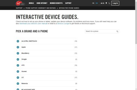 Interactive Device Guides VirginMobile